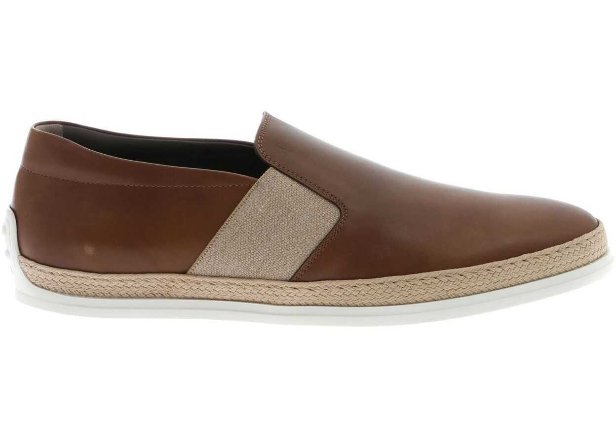 TOD'S Slip-On In Brown With Rope Effect Insert XXM0TV0V530D9CC813 Brown imagine b-mall.ro