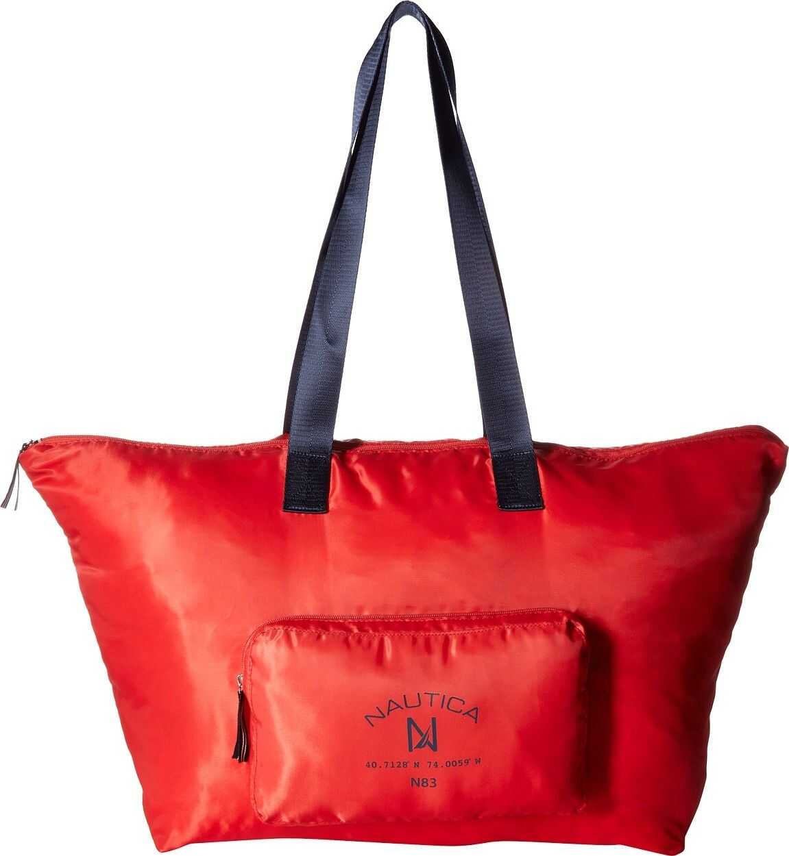 Nautica Logo Pocket Large Tote Electric Red