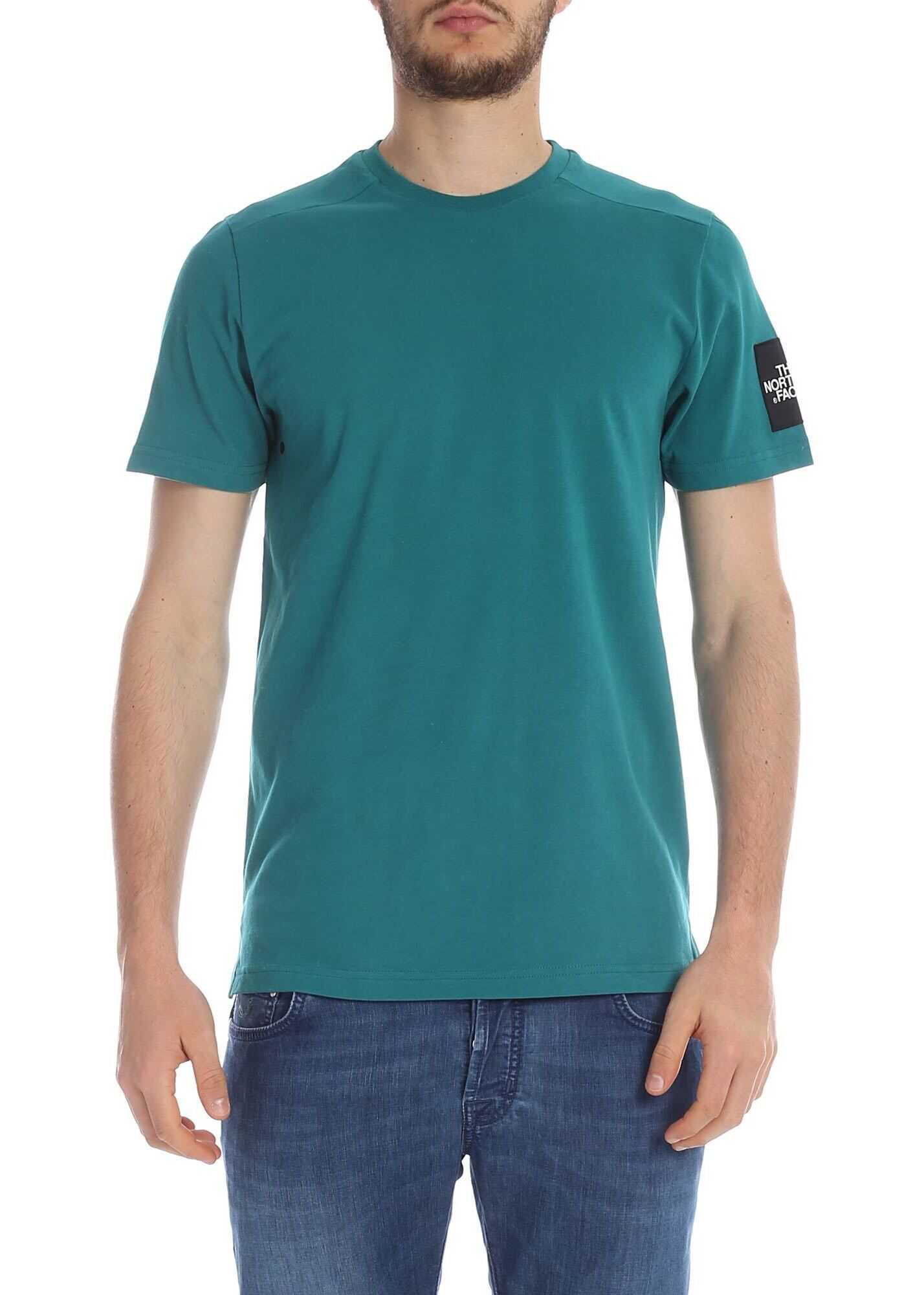 Teal Green T-Shirt With Logo