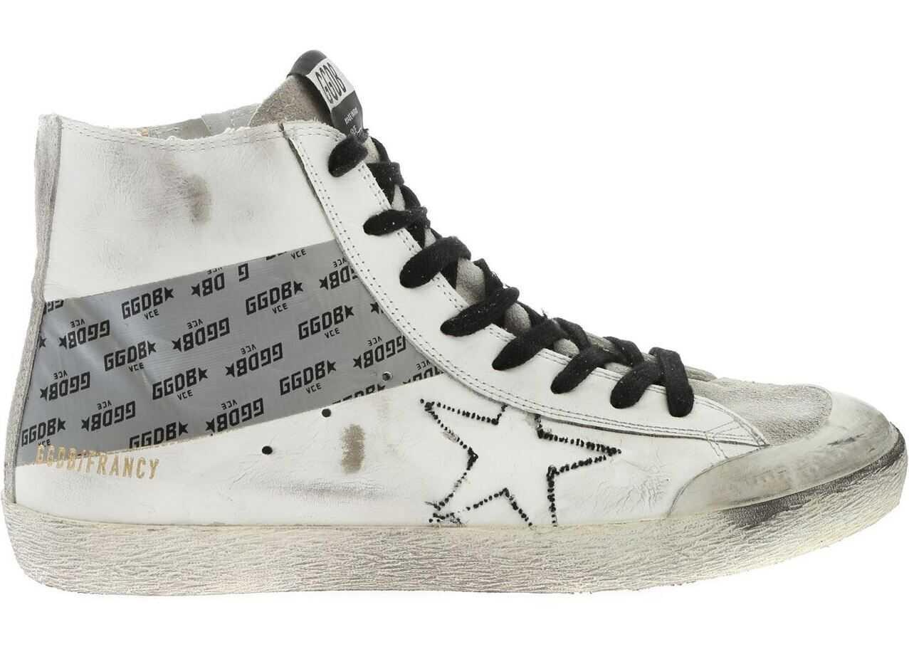 Golden Goose Francy Sneakers In Vintage White White