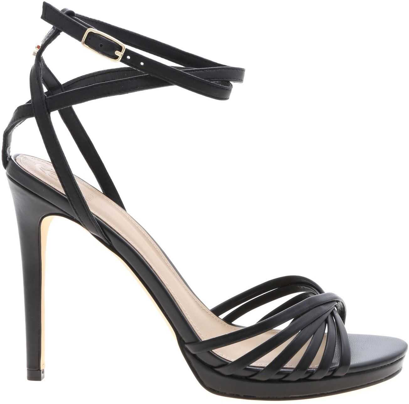 GUESS Tonya Sandals In Black Leather Black