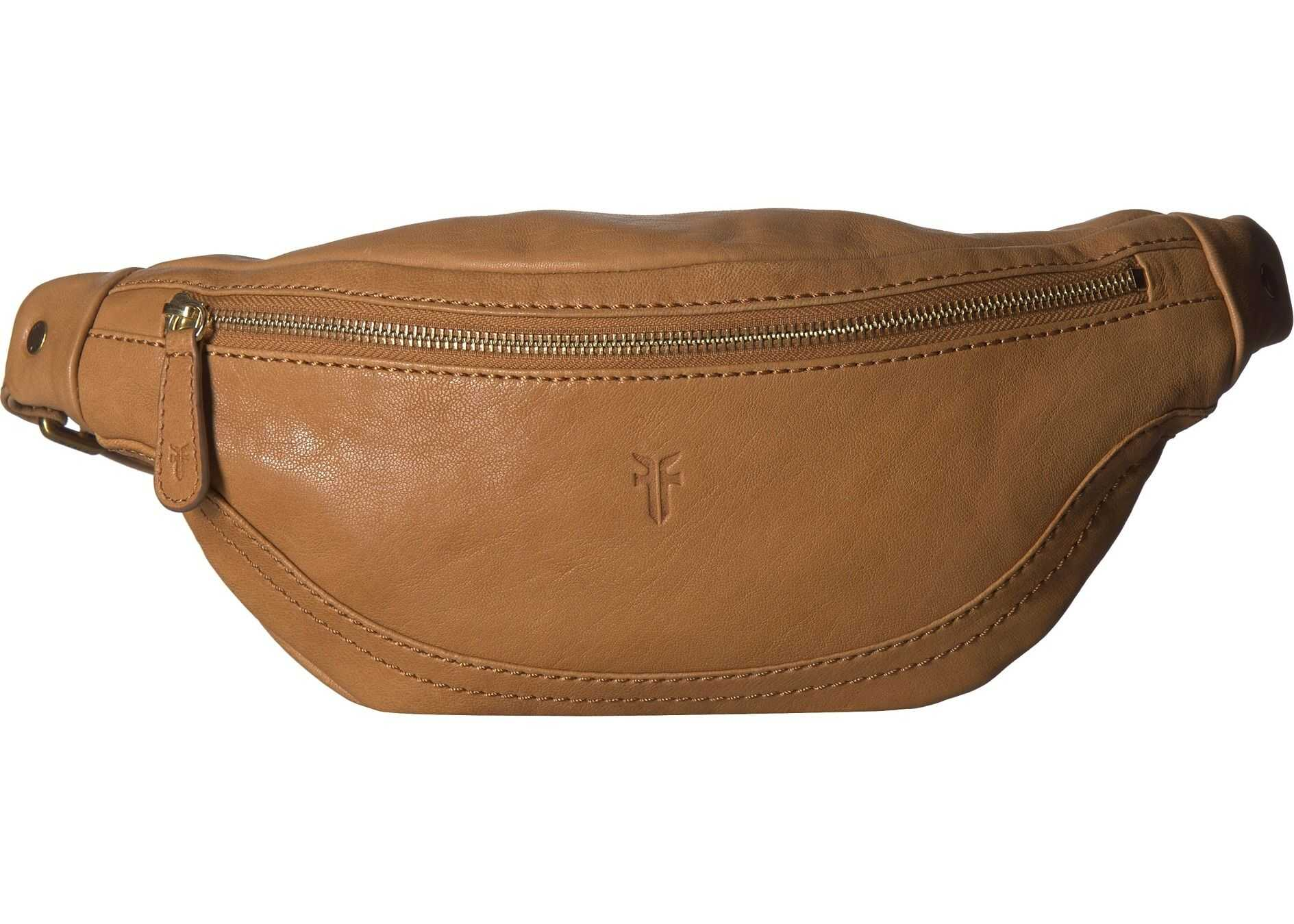 Frye Madison Hip Pack Tan Soft Vintage Leather