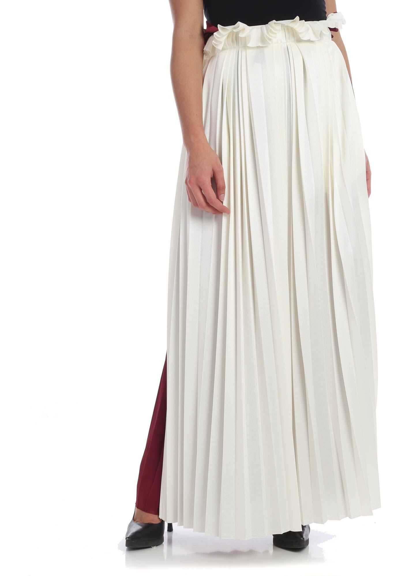 Golden Goose Gigliola Skirt In White And Burgundy White