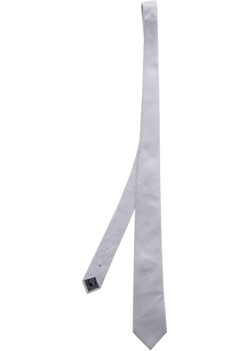 Emporio Armani Ice White Check Tie Grey