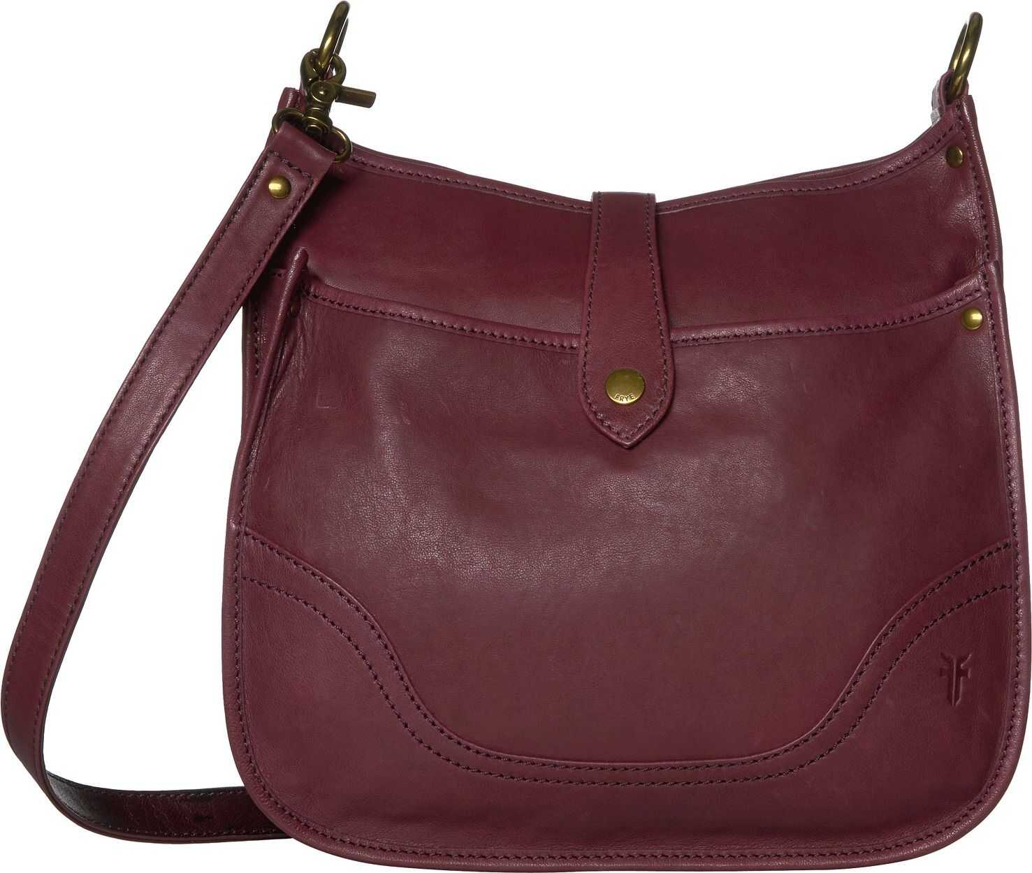 Frye Madison North/South Crossbody Wine