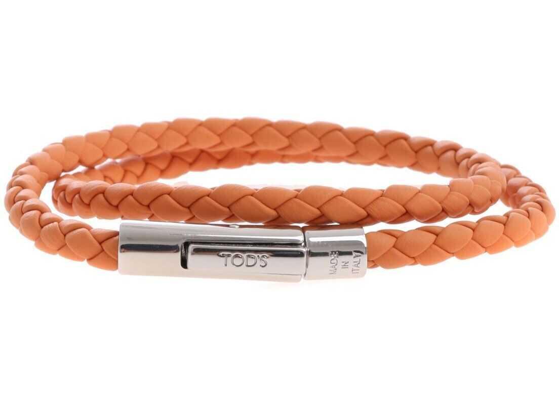 TOD'S Orange My Colors Braided Bracelet Orange