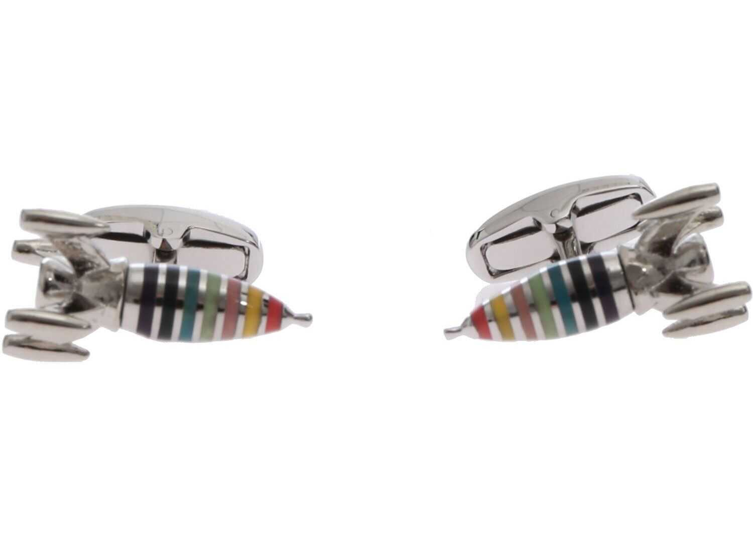 Paul Smith Artist Stripe Rocket Cufflinks Multi