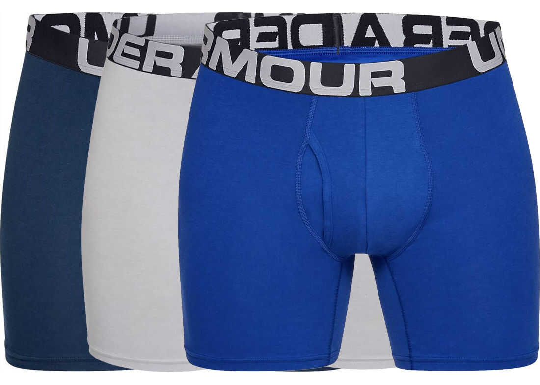 Under Armour Charged Cotton 6'' Boxerjock 3-Pack Blue