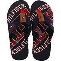 Slapi Essential Beach Sandal Flip Flops In Navy Red Barbati