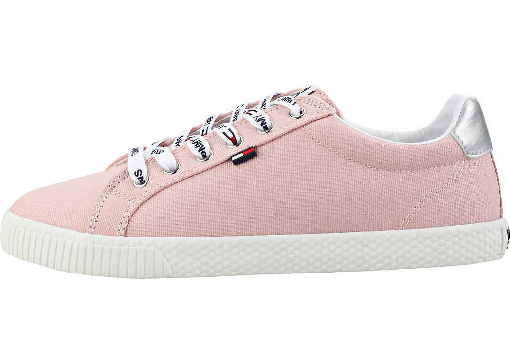 Tommy Jeans Casual Sneaker Trainers In Blush Pink Pink