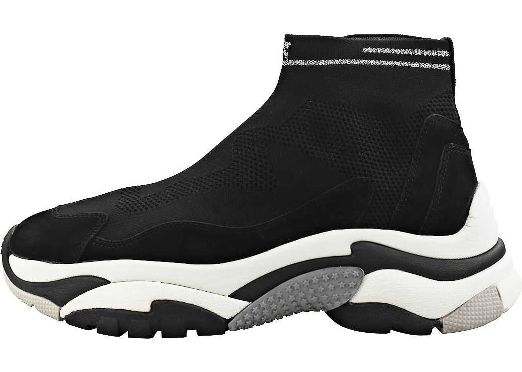 ASH Action Stretch Fashion Trainers In Black Silver Black