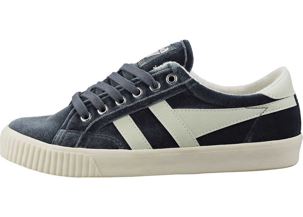 Gola Tennis Mark Cox Velvet Fashion Trainers In Slate Grey