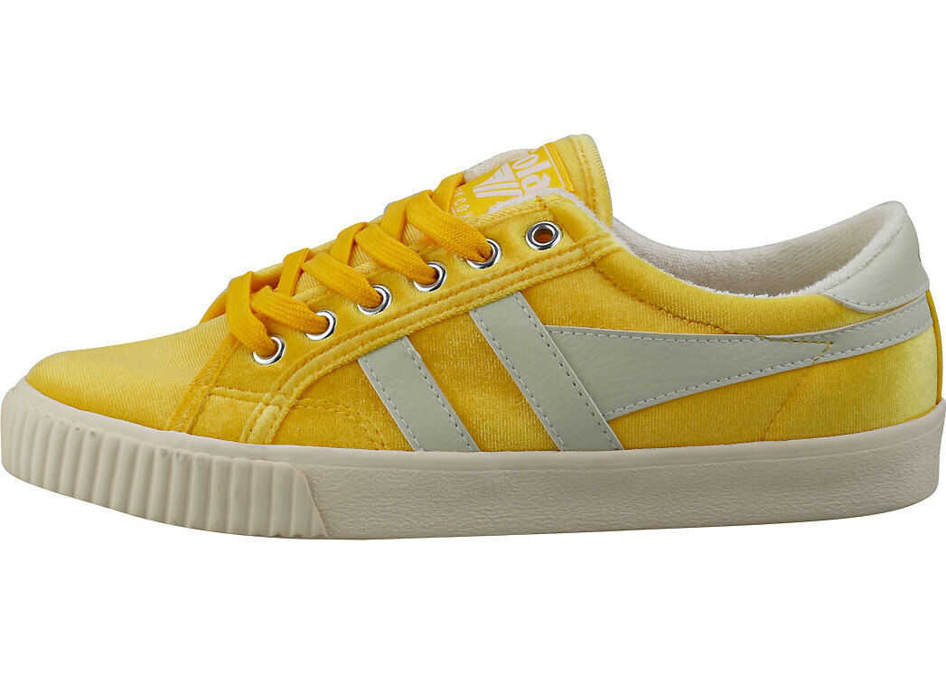Gola Tennis Mark Cox Velvet Fashion Trainers In Yellow White Yellow