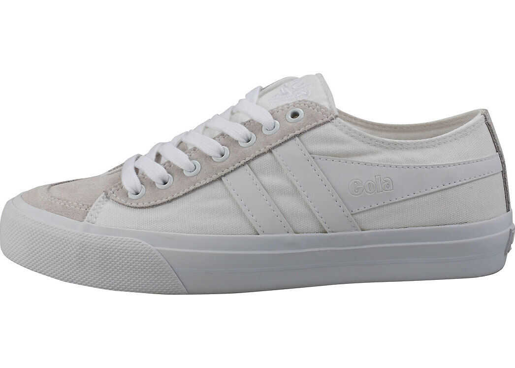 Gola Quota 2 Casual Trainers In White White White