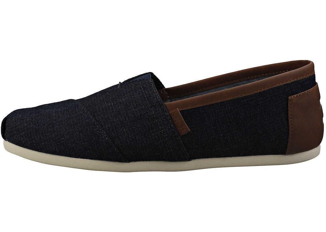 TOMS Classic Trim Slipon Shoes In Denim Blue