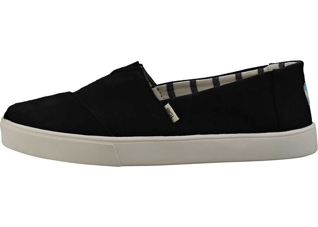 TOMS Classic Heritage Espadrille Shoes In Black Black