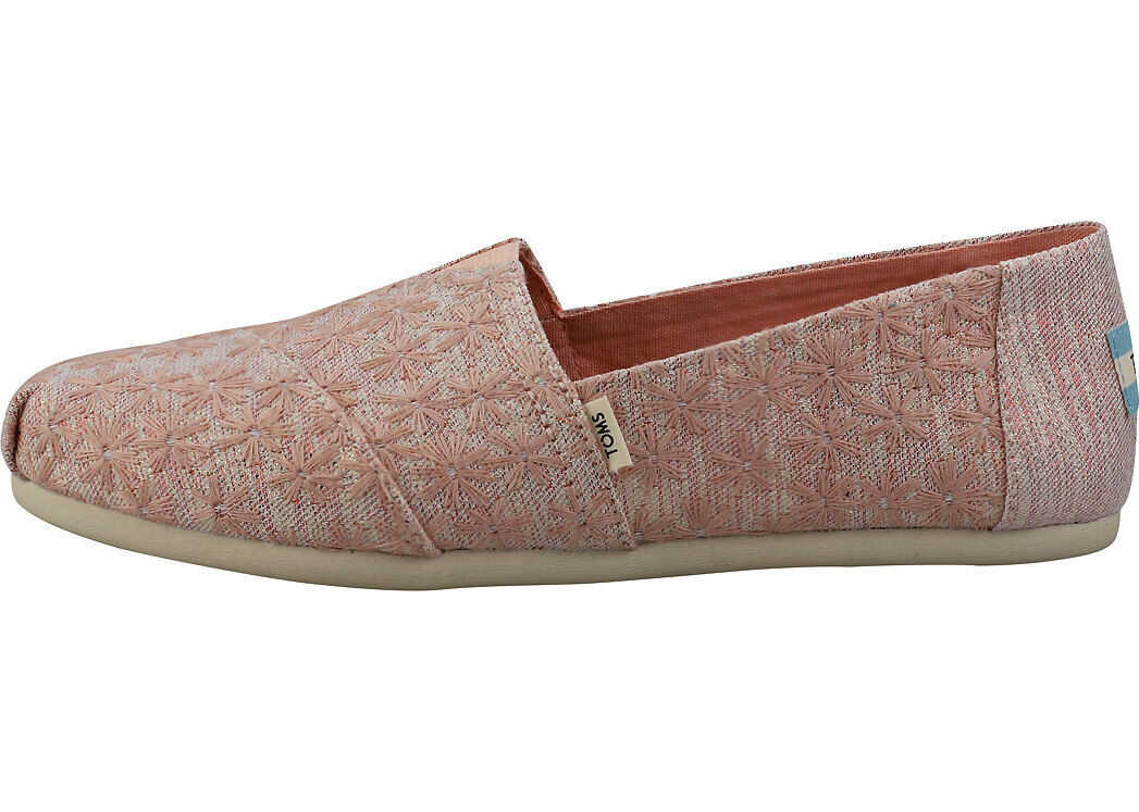 TOMS Classic Daisy Slipon Shoes In Pink Pink