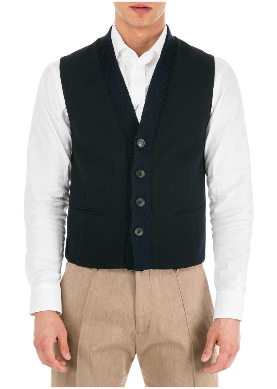 Emporio Armani Waistcoat Vest Blue