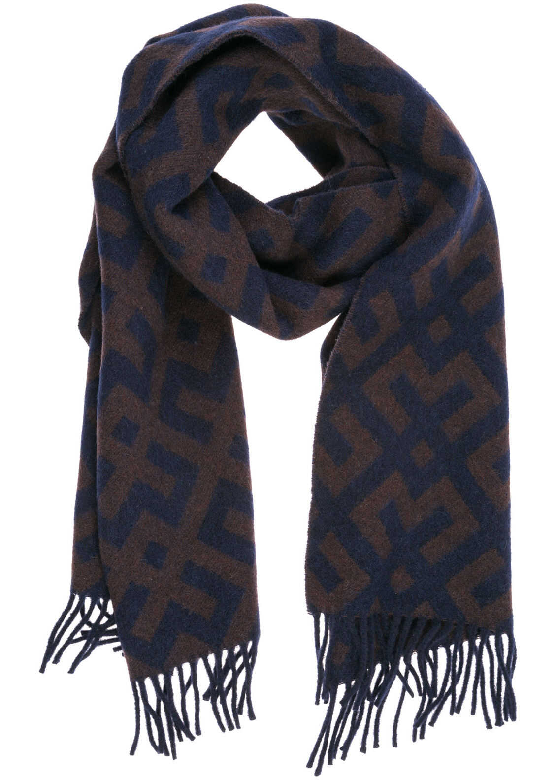 Emporio Armani Wool Scarf Brown