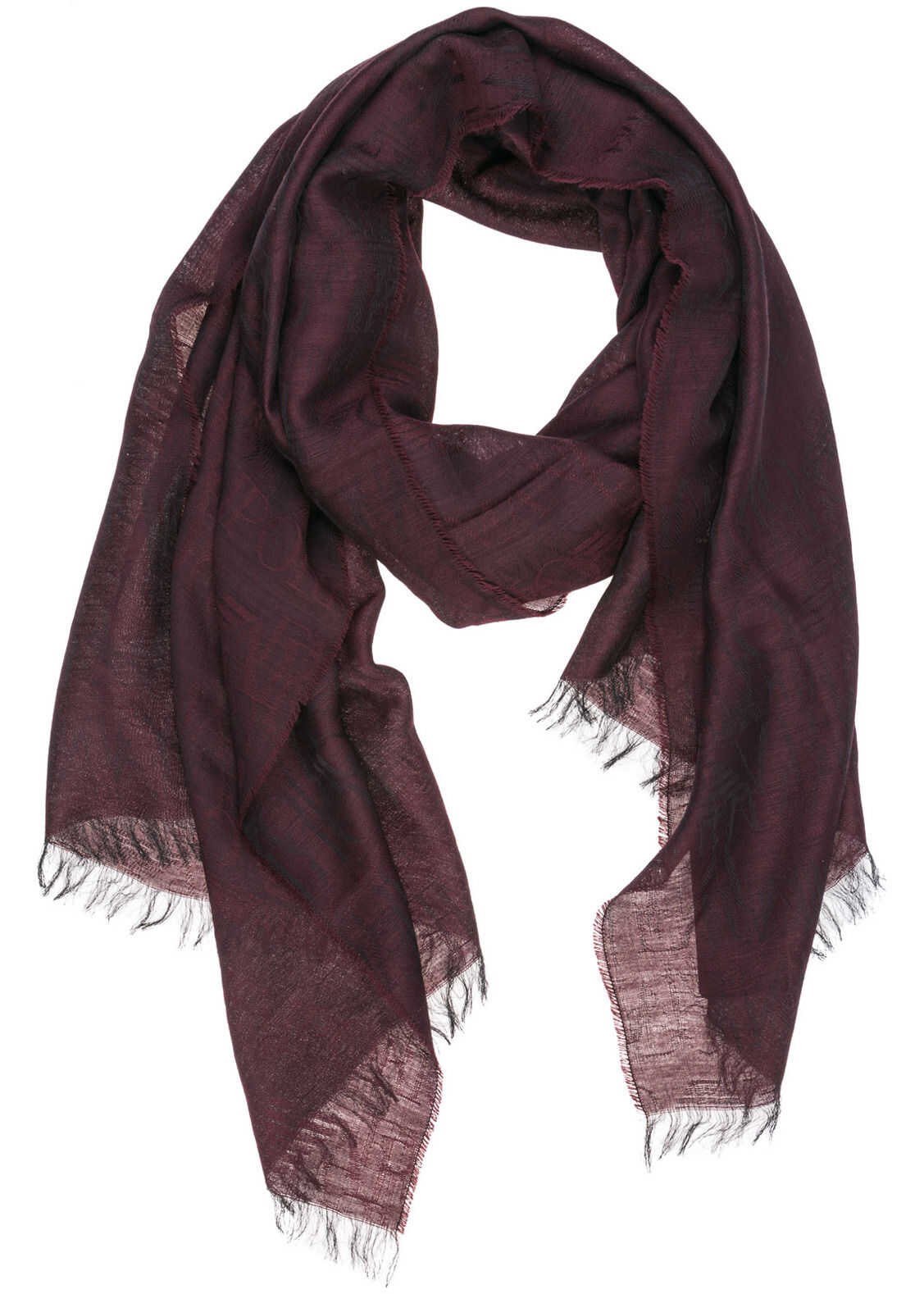 Emporio Armani Wool Scarf Red