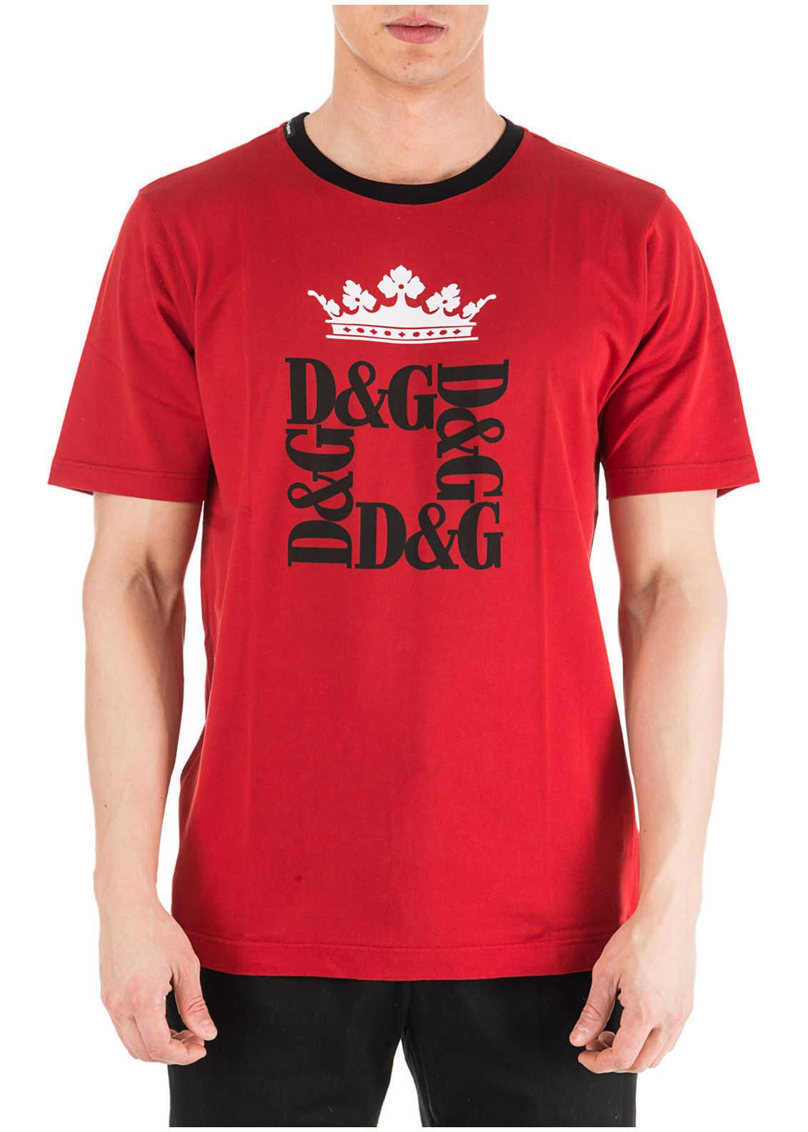 Dolce & Gabbana Neckline Jumper Red