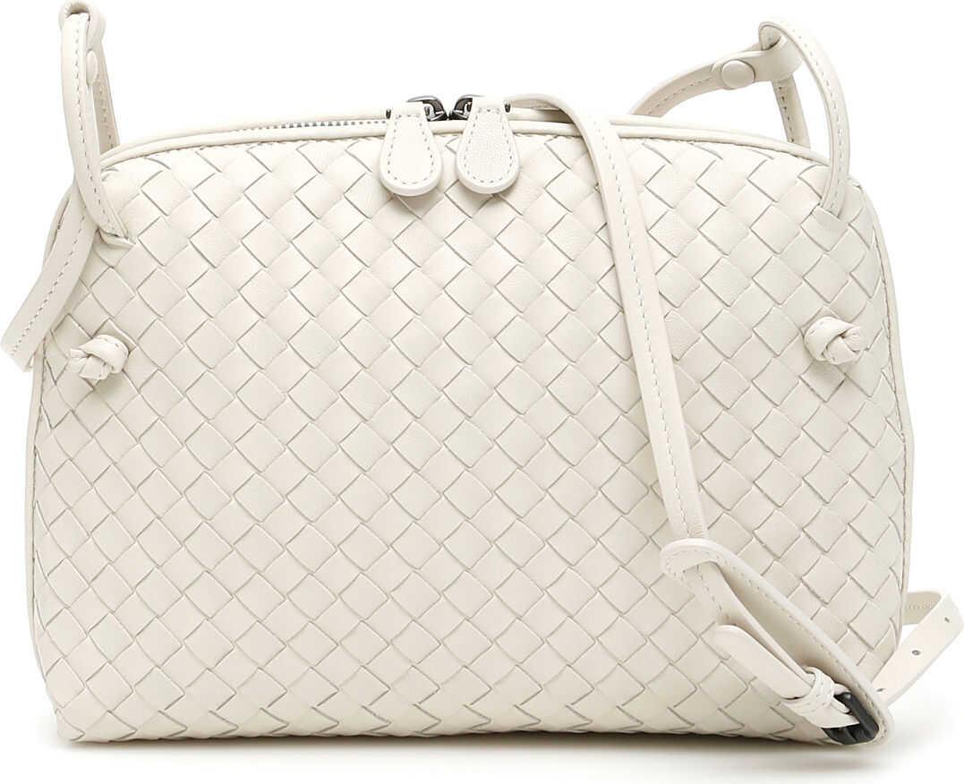 Bottega Veneta Woven Nappa Nodini Bag PLASTER CHALK