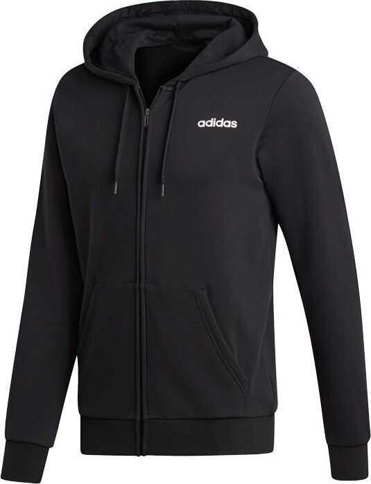 adidas Essentials 3 Stripes FZ Fleece DQ3101 NEGRE