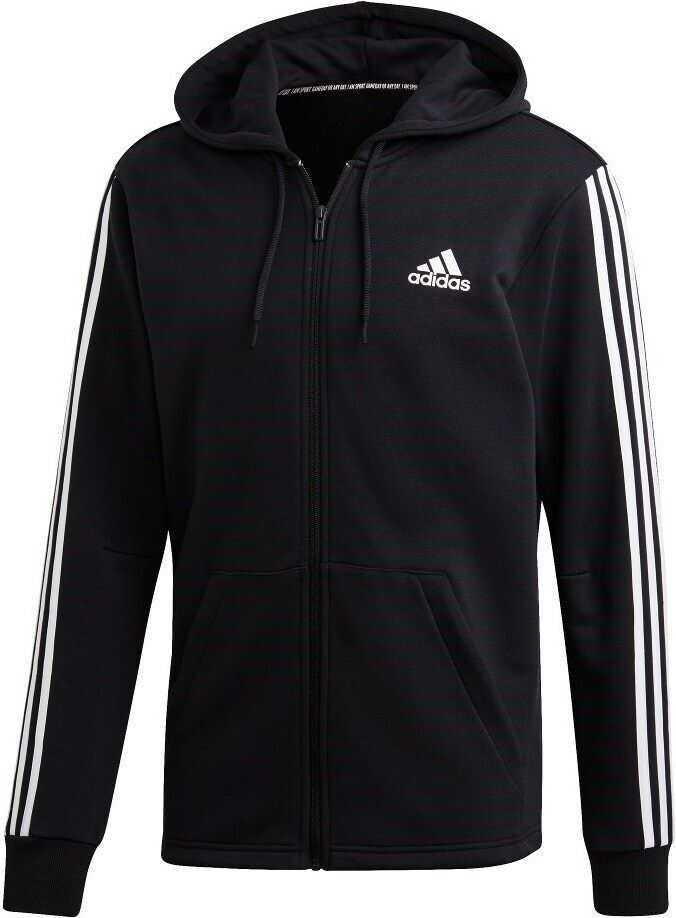 adidas Must Haves 3 Stripes Fullzip Hoodie DT9896 NEGRE