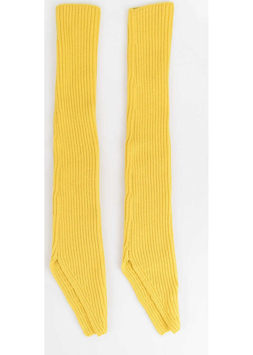 Calvin Klein 205W39NYC Wool and Cashmere Sleeves YELLOW