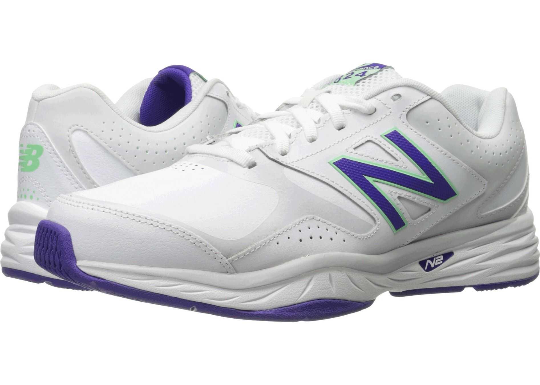 New Balance WX824v1 White/Deep Violet