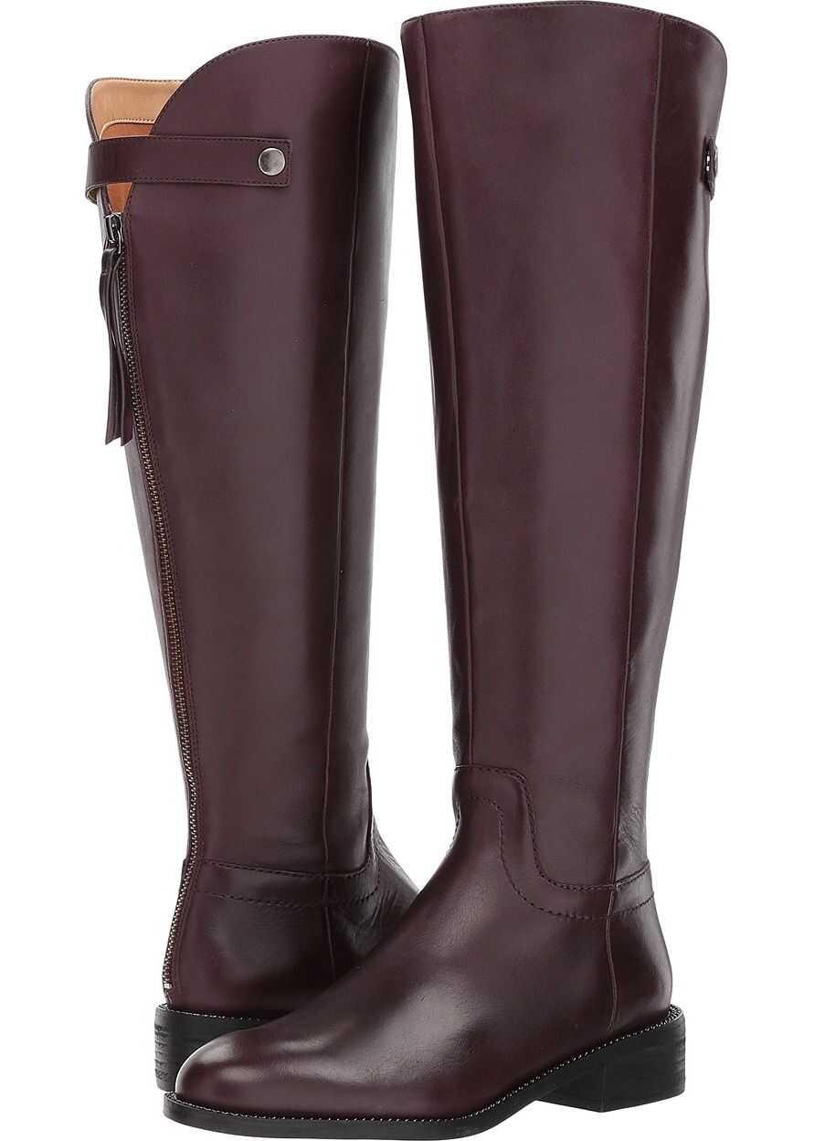 Franco Sarto Brindley Wide Calf Dark Burgundy Bally Leather