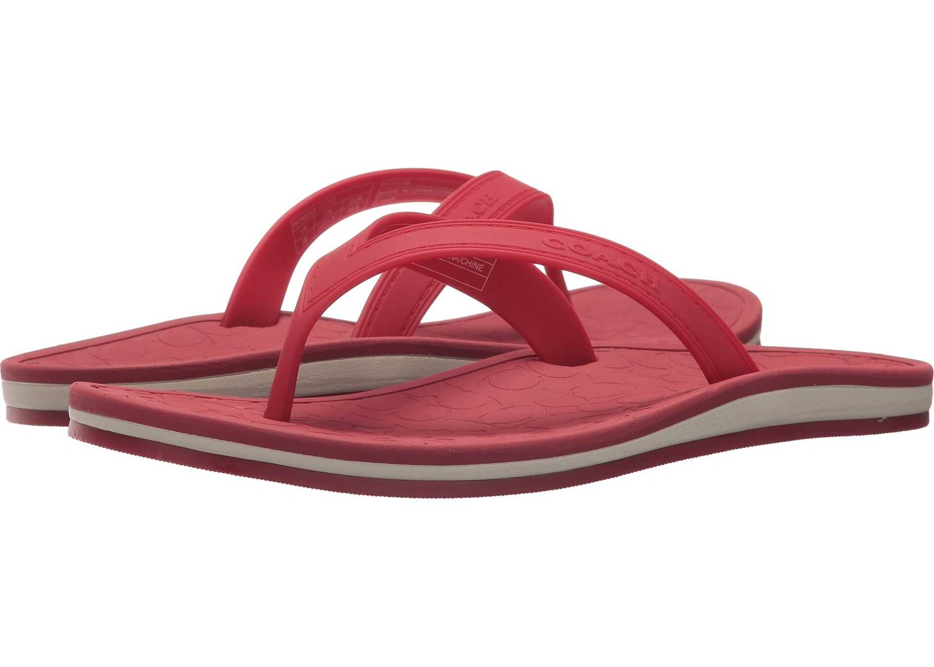 COACH Flip-Flop Red Rubber