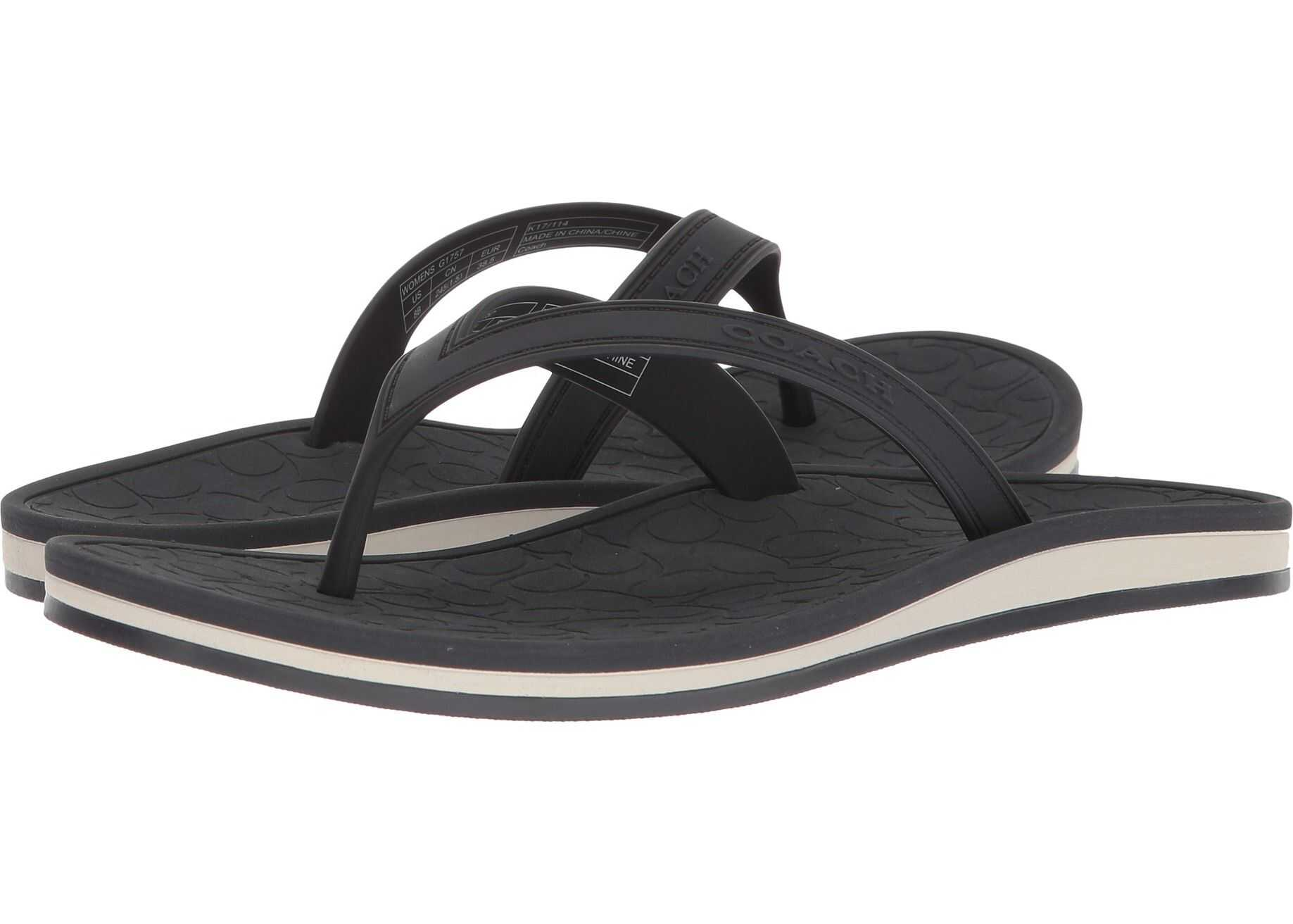 COACH Flip-Flop Navy Rubber