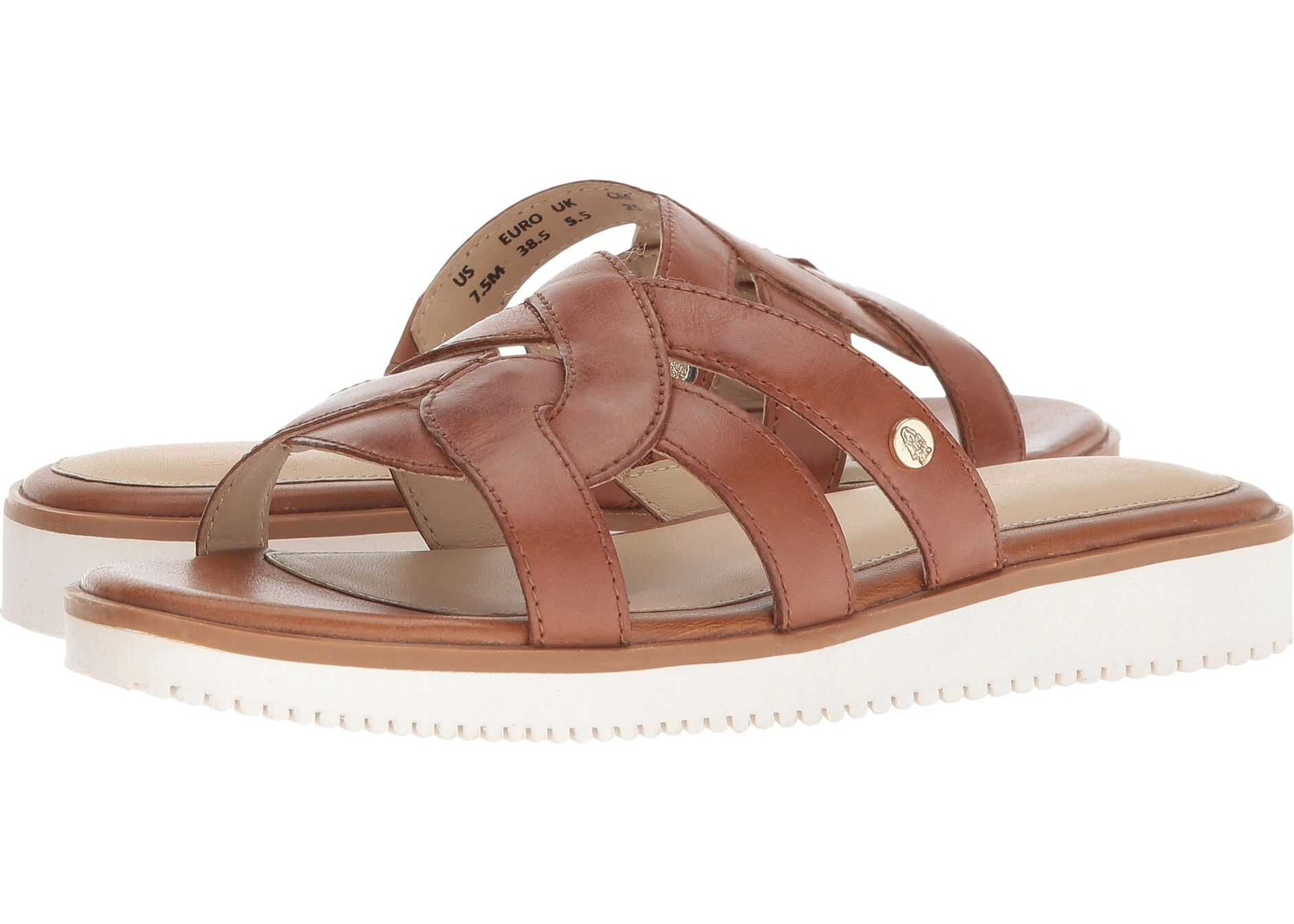Hush Puppies Briard Braid Slide Tan Leather