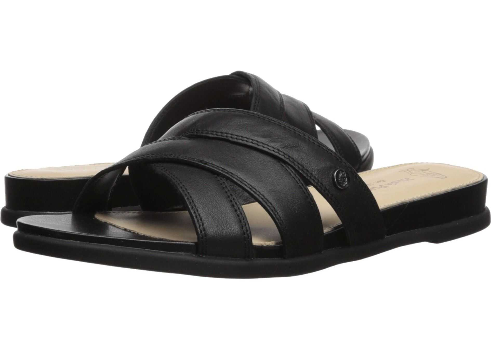 Hush Puppies Dalmatian Slide Black Leather