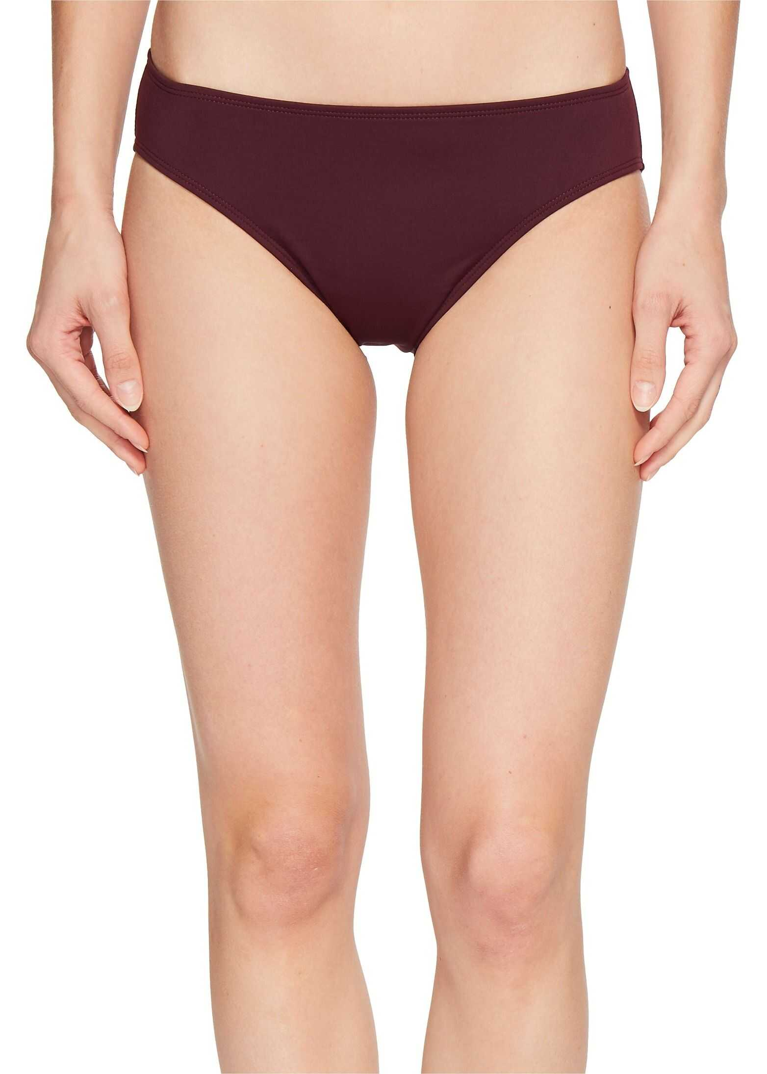 Ralph Lauren Beach Club Solids Solid Hipster Bottoms Burgundy