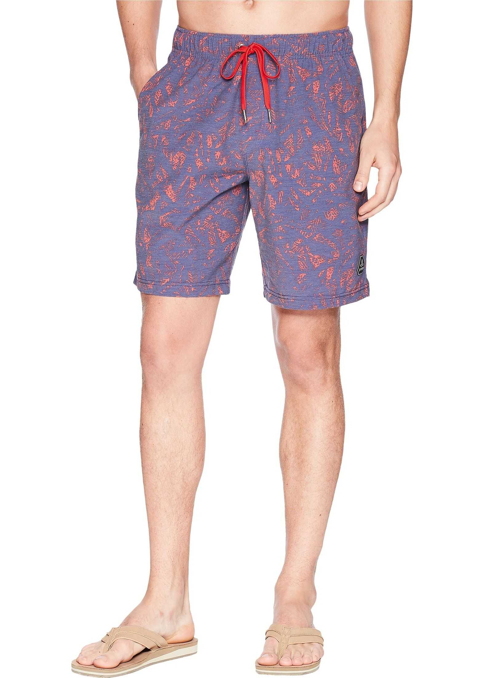 Prana Metric E-Waist Shorts Indigo Waimea