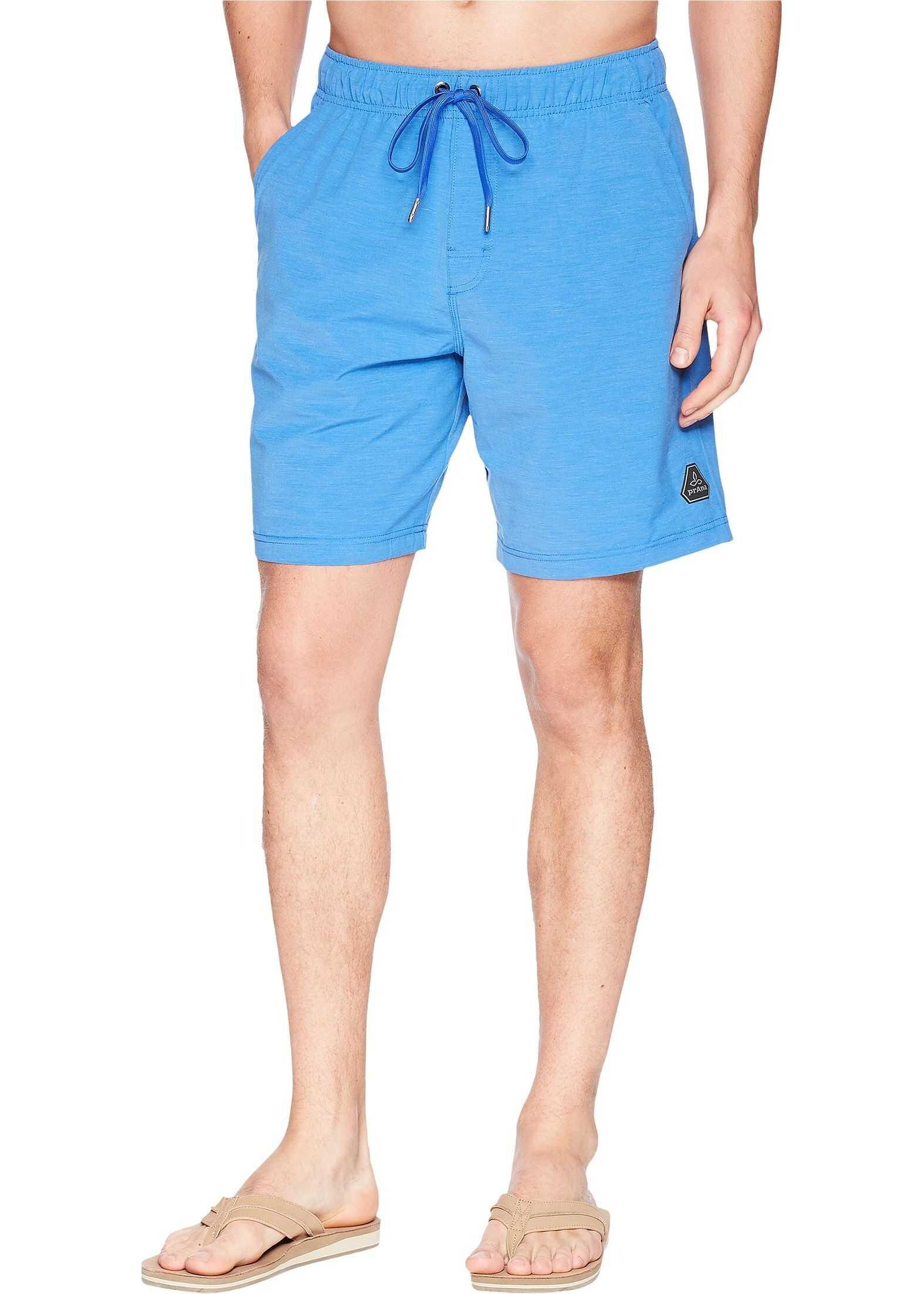 Prana Metric E-Waist Shorts Island Blue