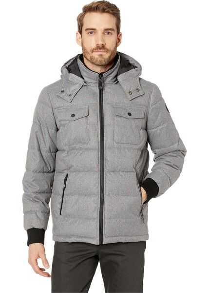 Geci Barbati Kenneth Cole New York Nylon Hooded Puffer Spill