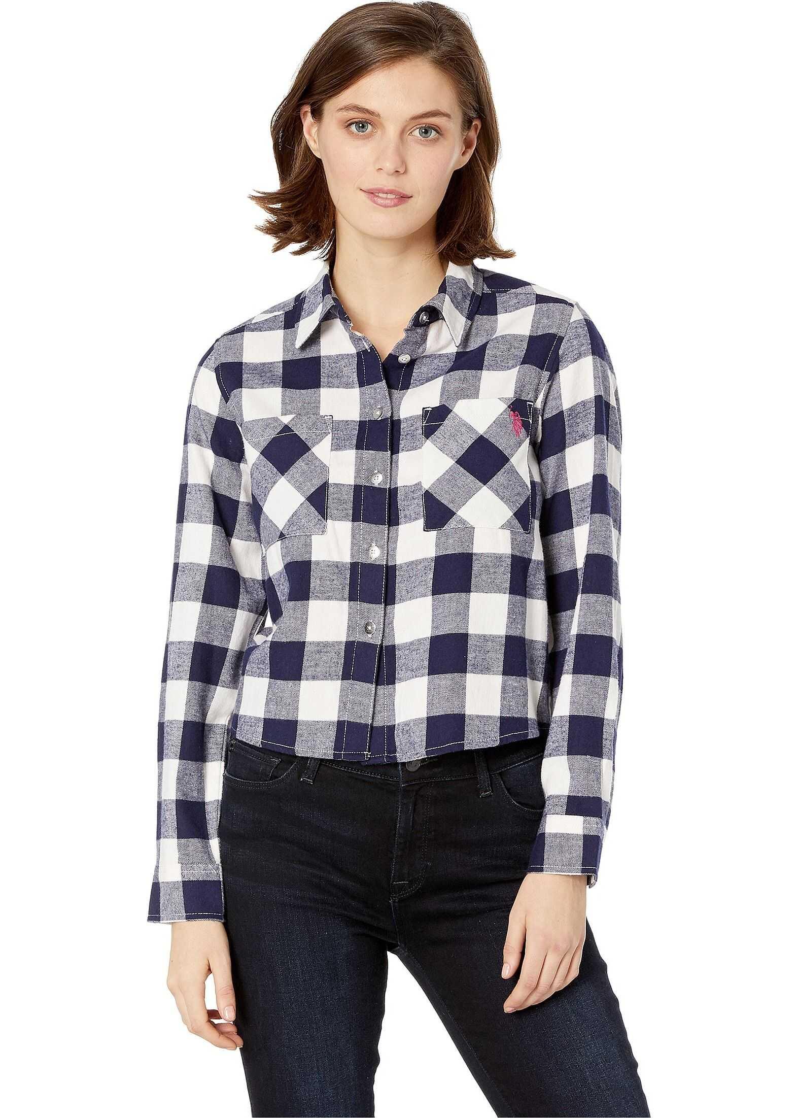 U.S. POLO ASSN. Flannel Shirt Buffalo Check/Ivory