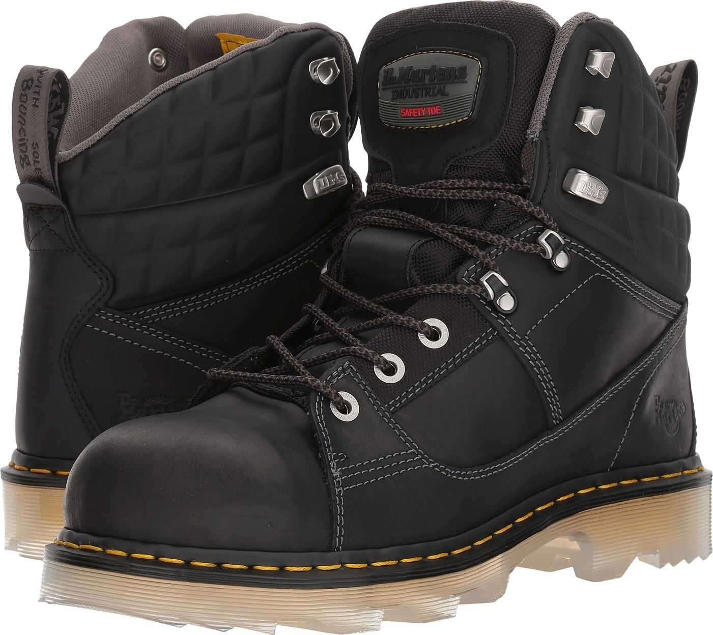 Dr. Martens Camber Alloy Toe Black Connection/Black Soft Rubbery