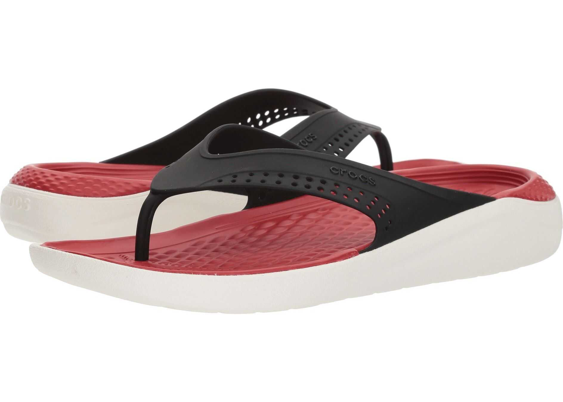 Crocs LiteRide Flip Black/White
