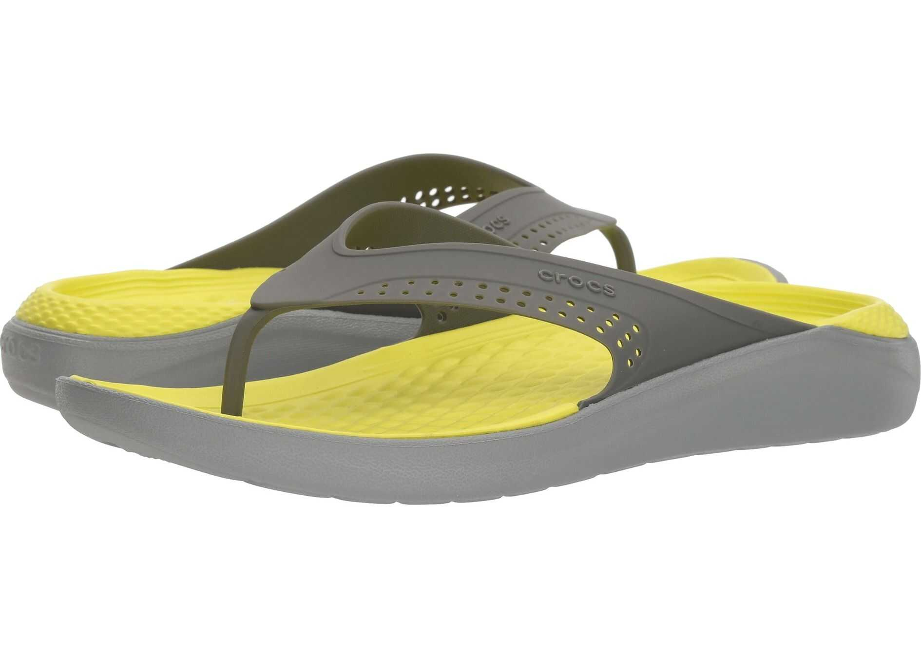 Crocs LiteRide Flip Slate Grey/Light Grey