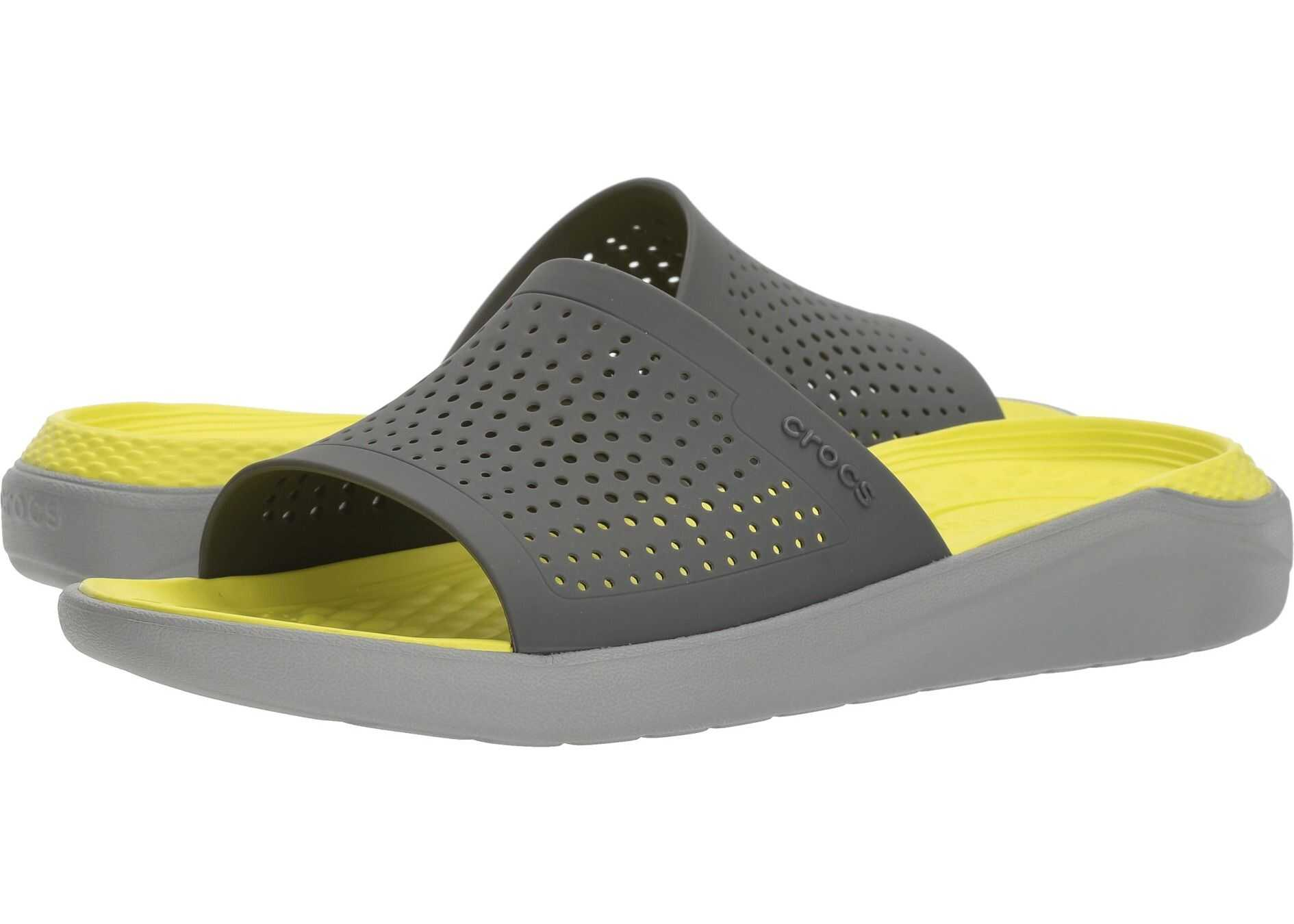 Crocs LiteRide Slide Slate Grey/Light Grey