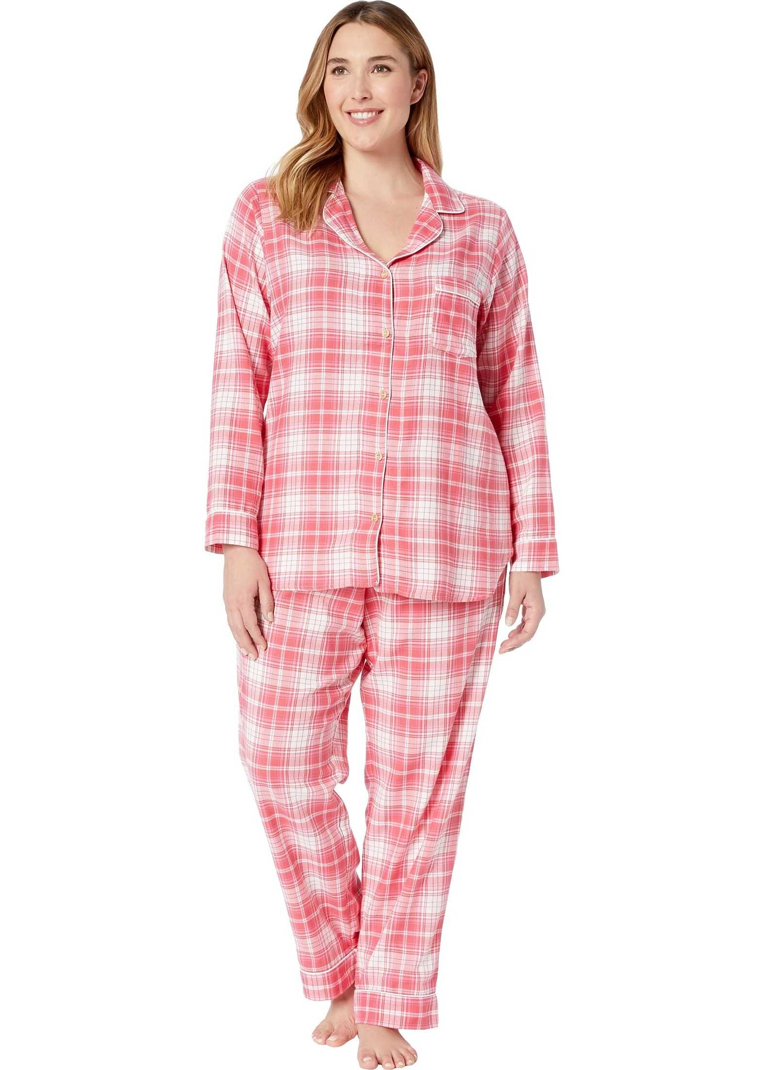UGG Plus Size Raven PJ Set Claret Red Plaid
