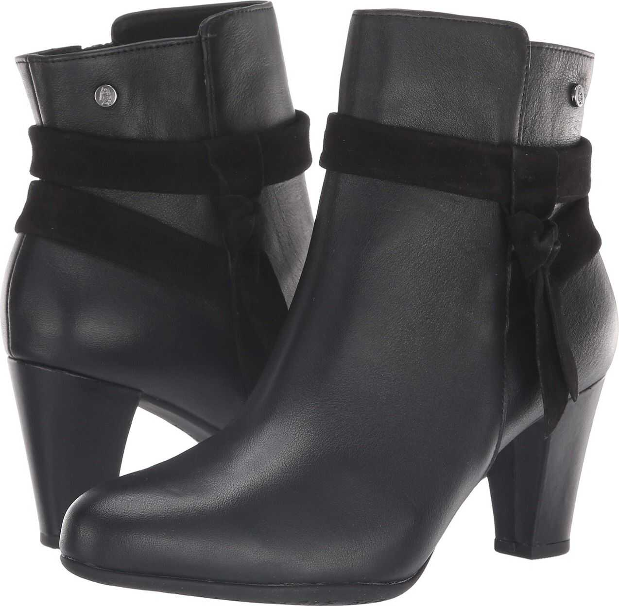 Hush Puppies Meaghan Bow Boot Black Leather