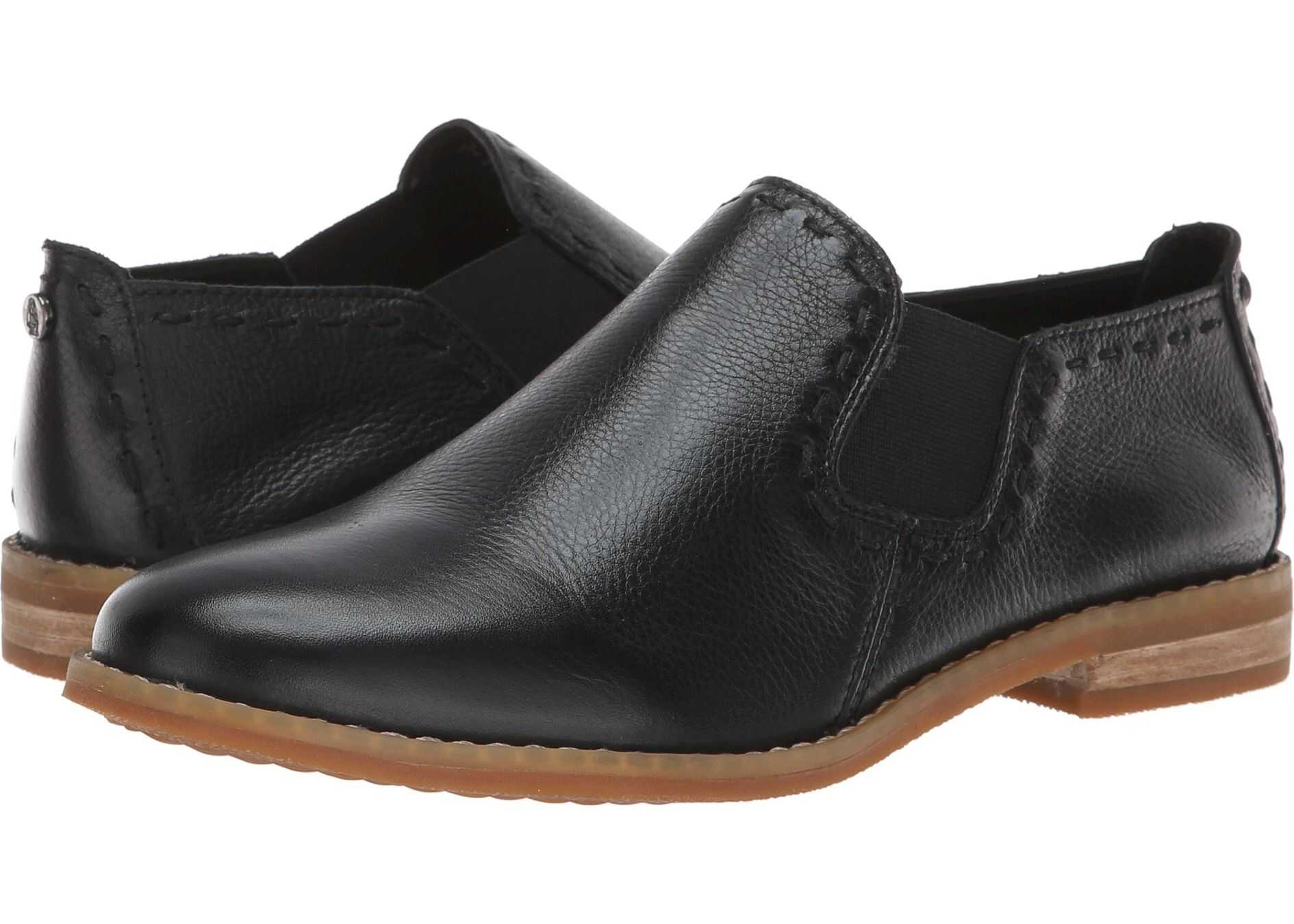 Hush Puppies Chardon Slip-On Black Leather