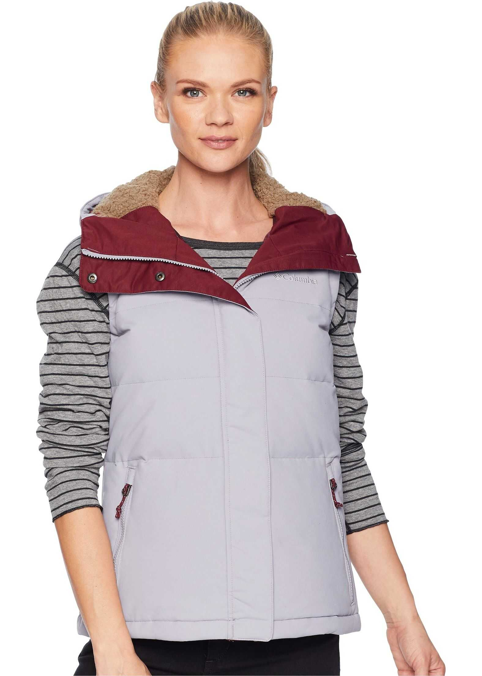 Columbia Winter Challenger™ Hooded Vest Astral/Rich Wine