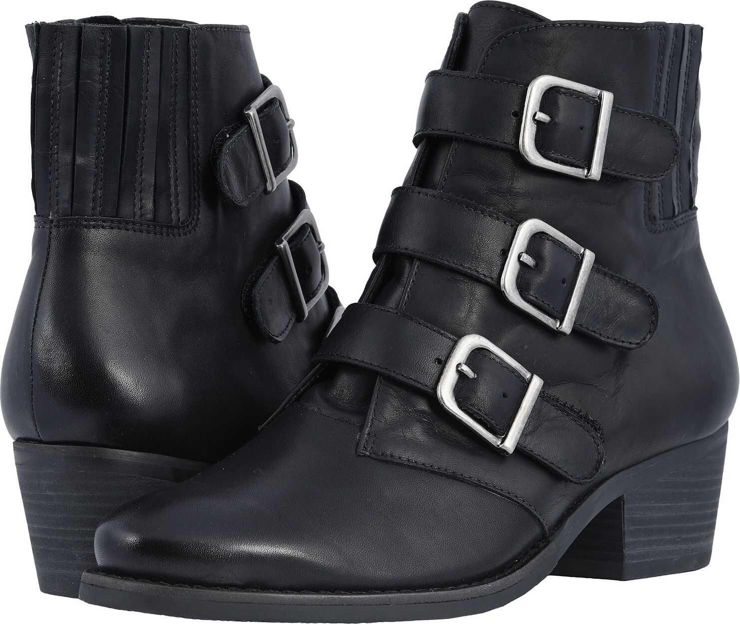 Walking Cradles Graham Black Rustic Leather