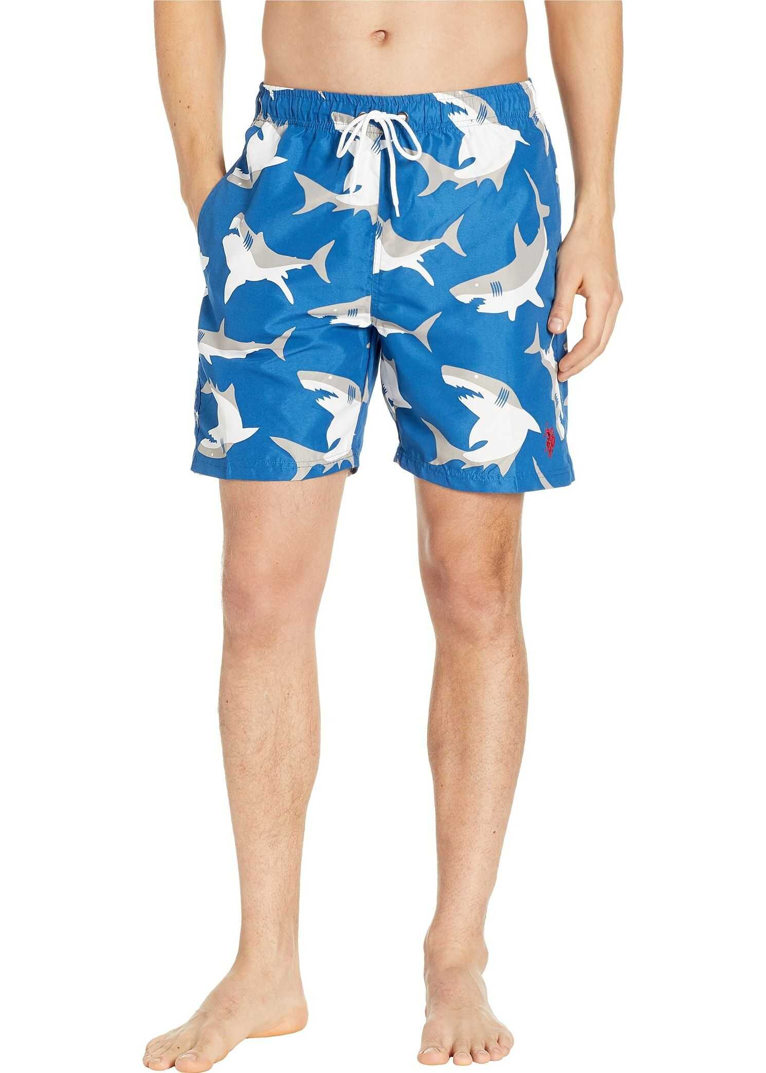 U.S. POLO ASSN. Shark Swim Shorts Blue Whale